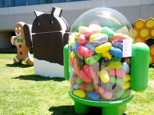 android jellybean statue