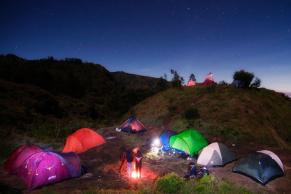 camping ground in dieng